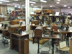 Antiqe Sewing Machine display