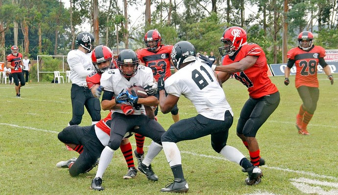 Flamengo FA x Corinthians Steamrollers Futebol Americano Torneio Touchdown (Foto: Divulgação)