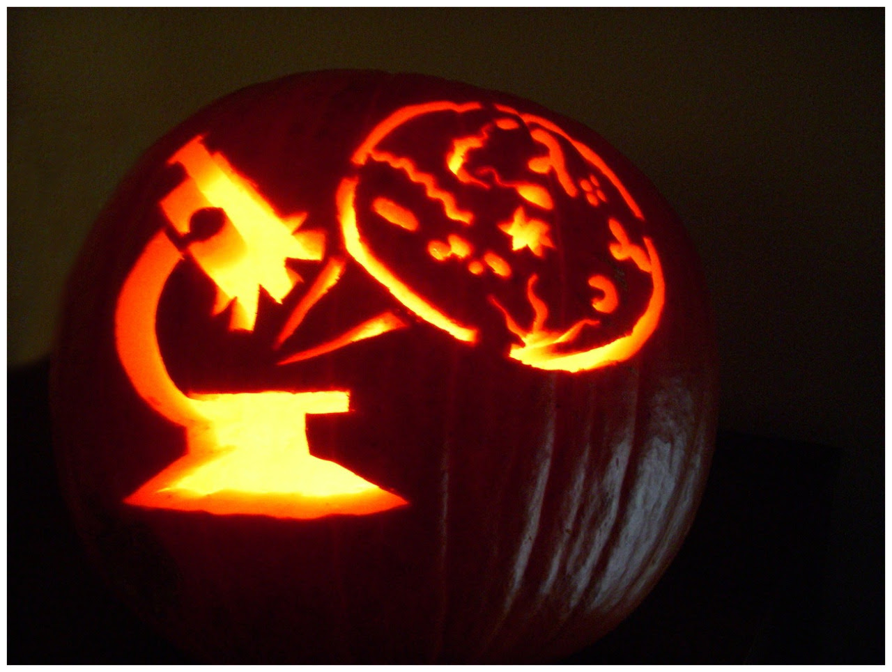 a microscope pumpkin