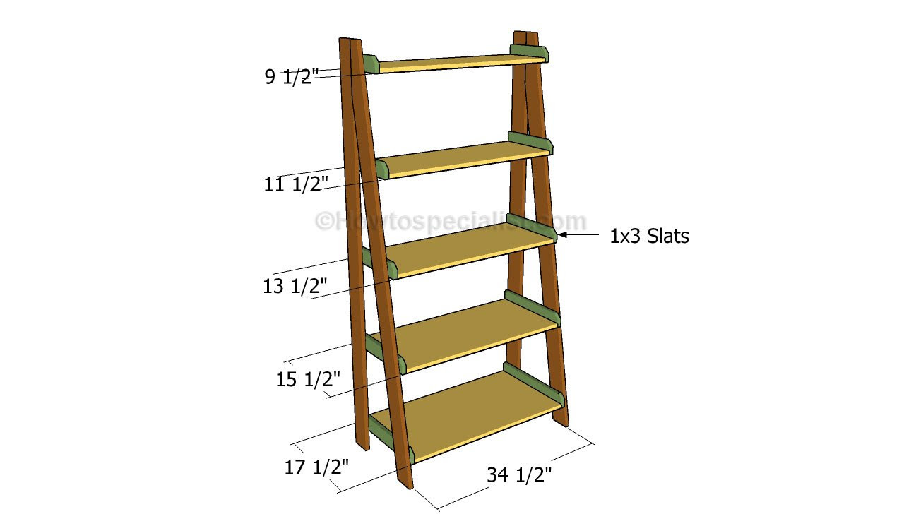 Woodworking Plans Ladder Shelf Learn Woodworking Basics