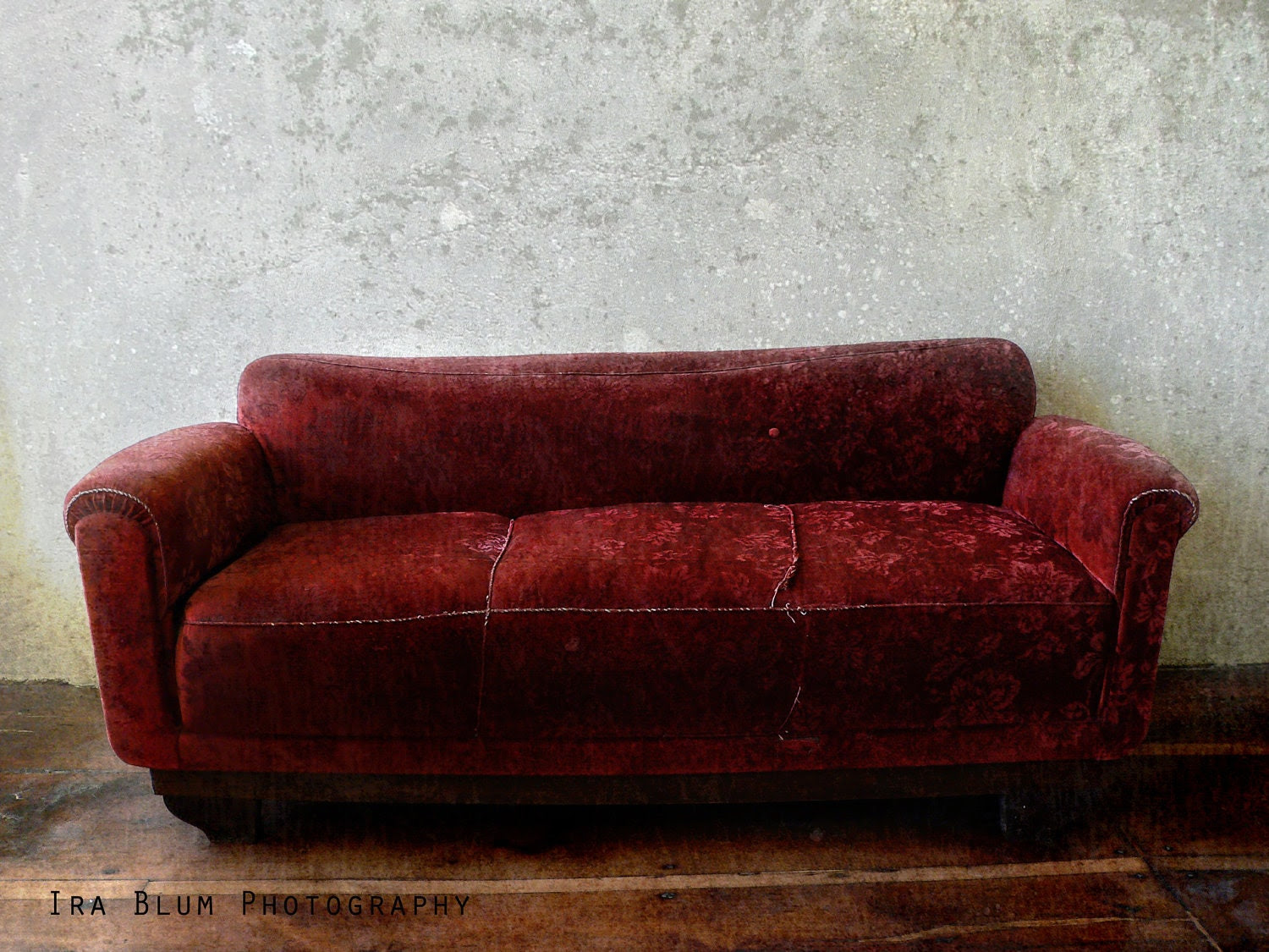"Boho Red Sofa Still Life Photograph // Fine Art Photography // Vintage  8"" x 10"" - IraBlumPhotography"