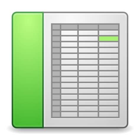 mimes  office spreadsheet icon matrilineare iconset