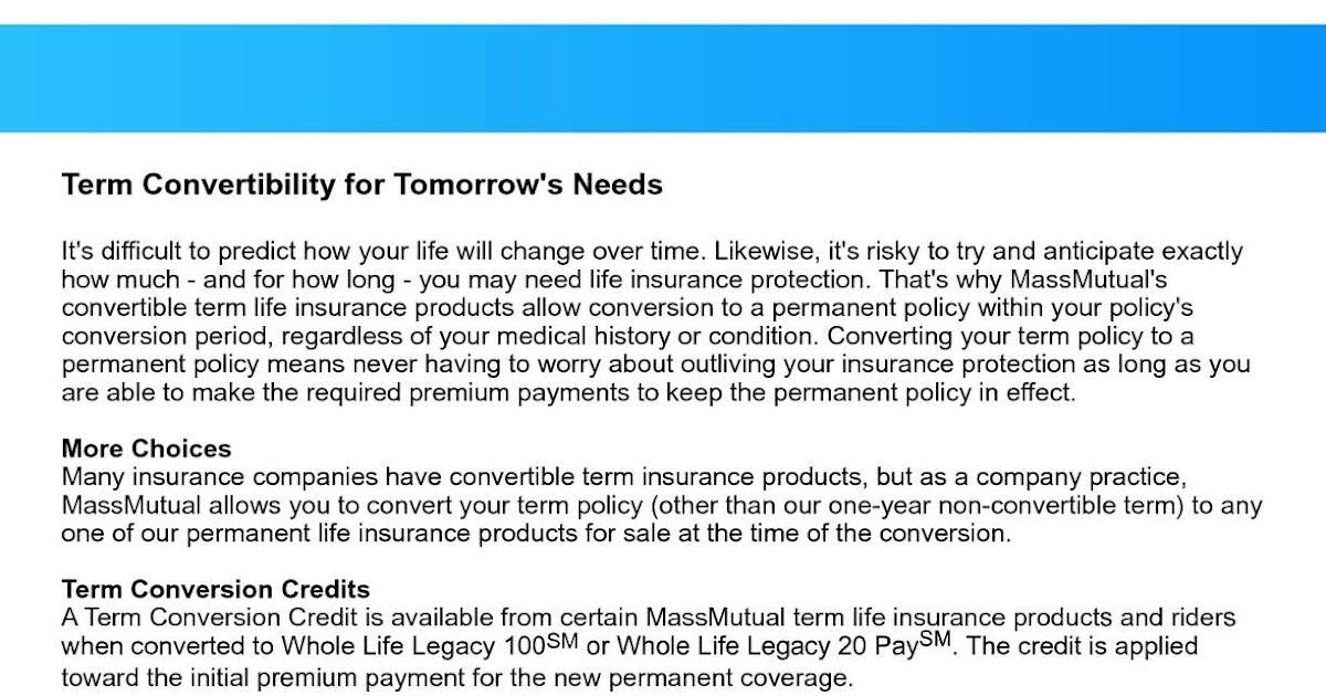 Converting Term To Whole Life Insurance - Keikaiookami