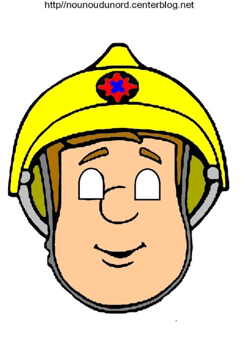 masque sam le pompier en couleur