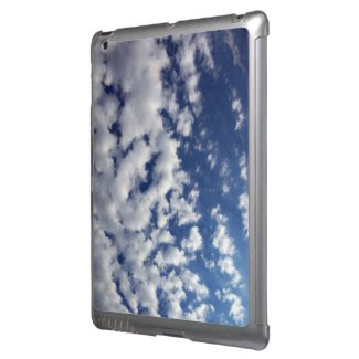 Puffy Clouds On Blue Sky iPad Cases