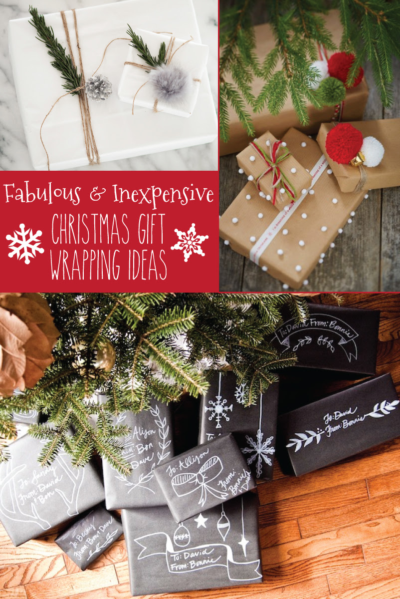 Fabulous and Inexpensive Christmas Gift Wrapping Ideas