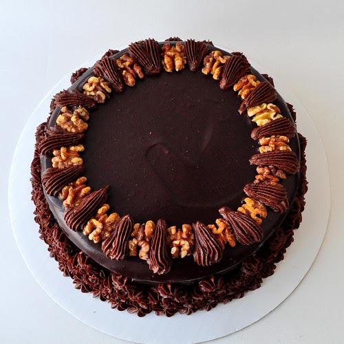 Chocolate Walnut Cake Top