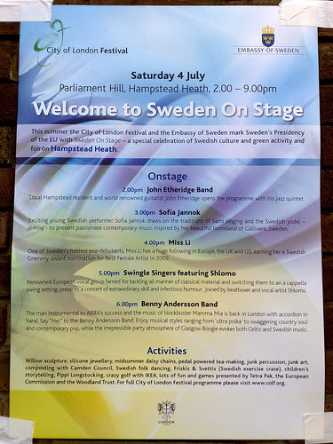 Sweden on stage poster