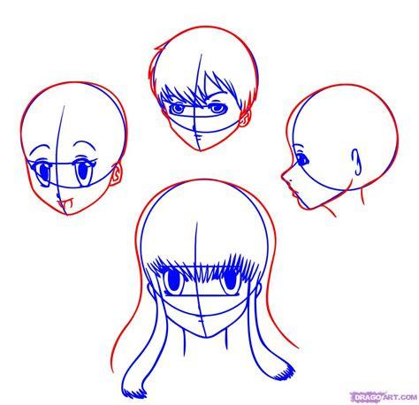 draw anime heads step  step anime heads anime