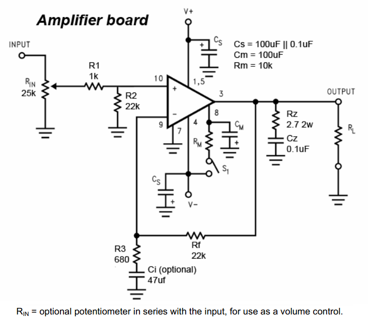 lm 3886 amplifier circuit with pcb layout