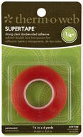 Super Tape 1/4inches roll. Strong Double-Sided clear Tape with Red Liner, Heat and Water resistant