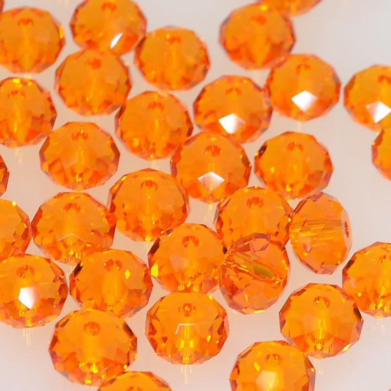27750401010259 Swarovski Bead - 6 mm Faceted Donut (5040) - Tangerine (1)
