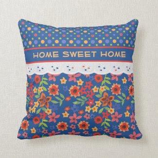 Custom Floral, Polkas, Faux Lace Pillow or Cushion