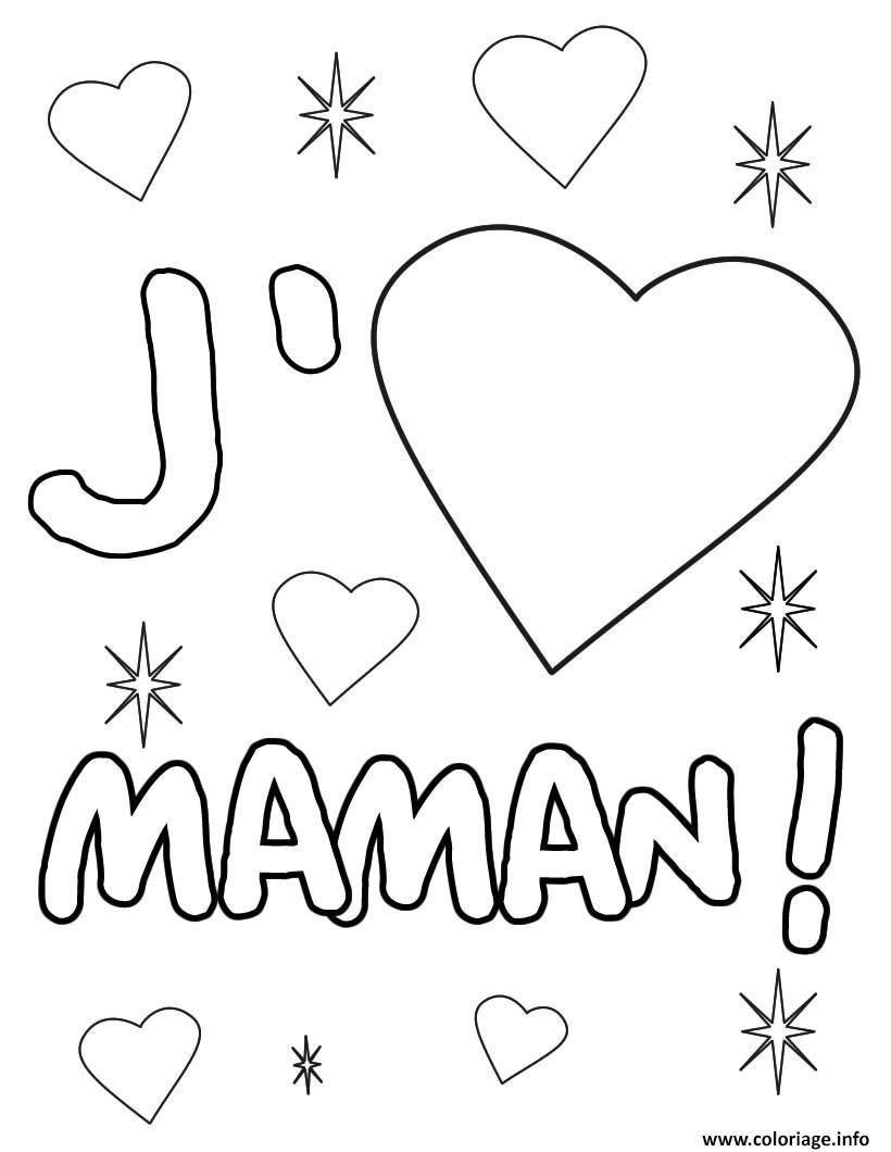 Coloriage Coeur Maman Dessin  Imprimer