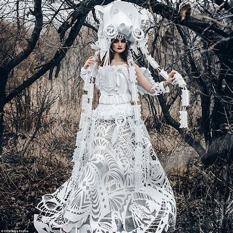 Russian designer Asya Kozina crafts wedding dresses out of