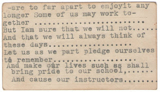Ainsworth school meal ticket verso