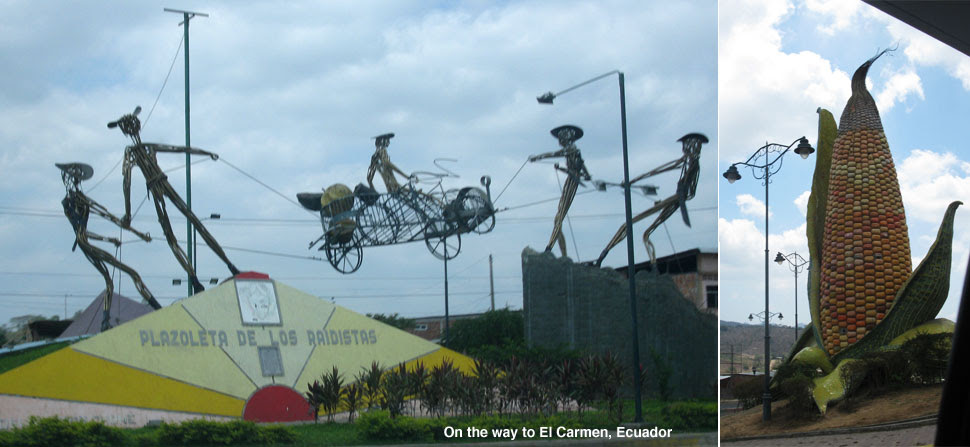 On the way to El Carmen, Ecuador