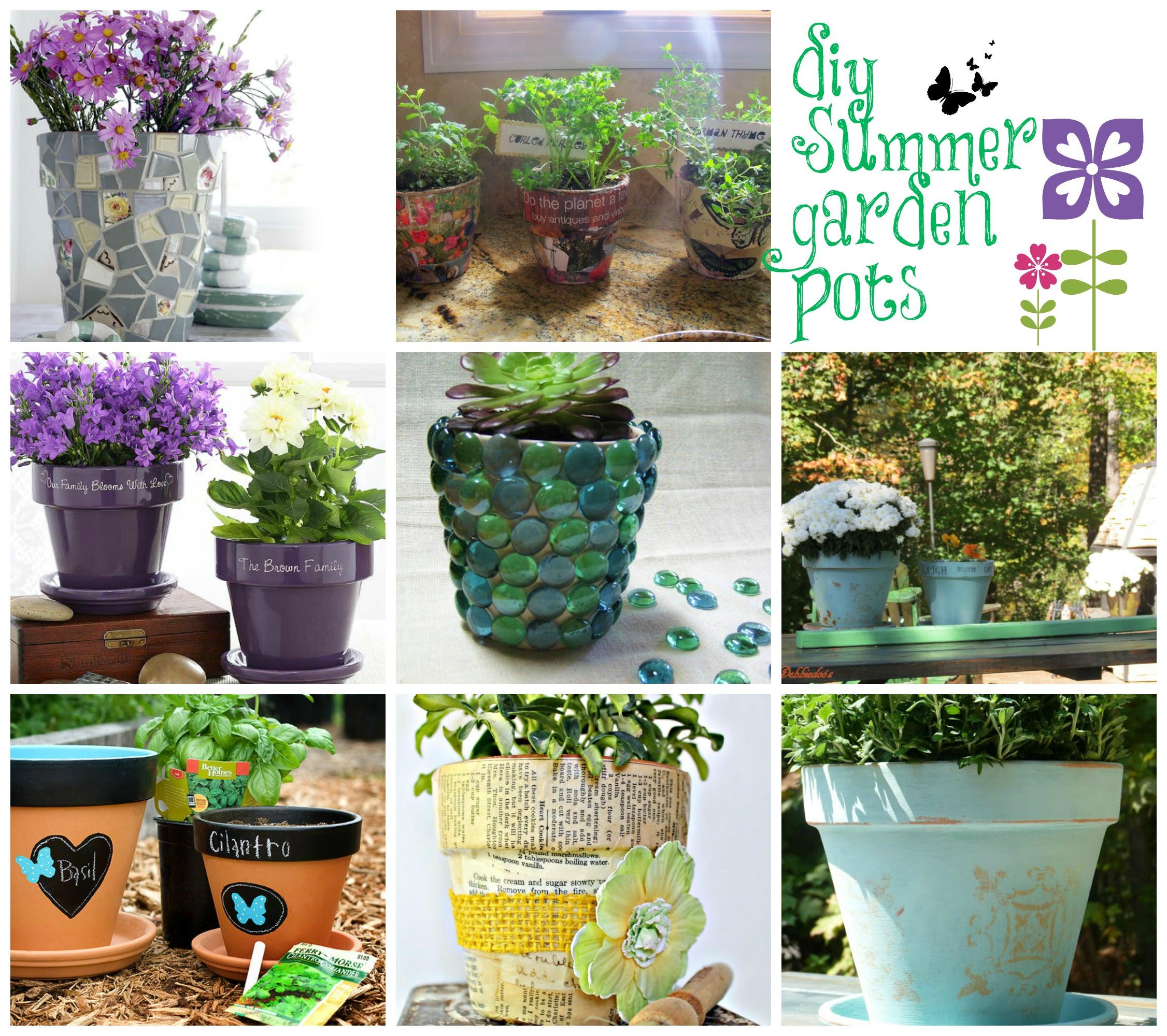 Ideas for decorating Terra cotta pots in the garden - Debbiedoo's
