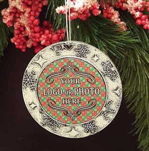 Personalized Logo And Photo Insert Ornaments Kingcustomnet