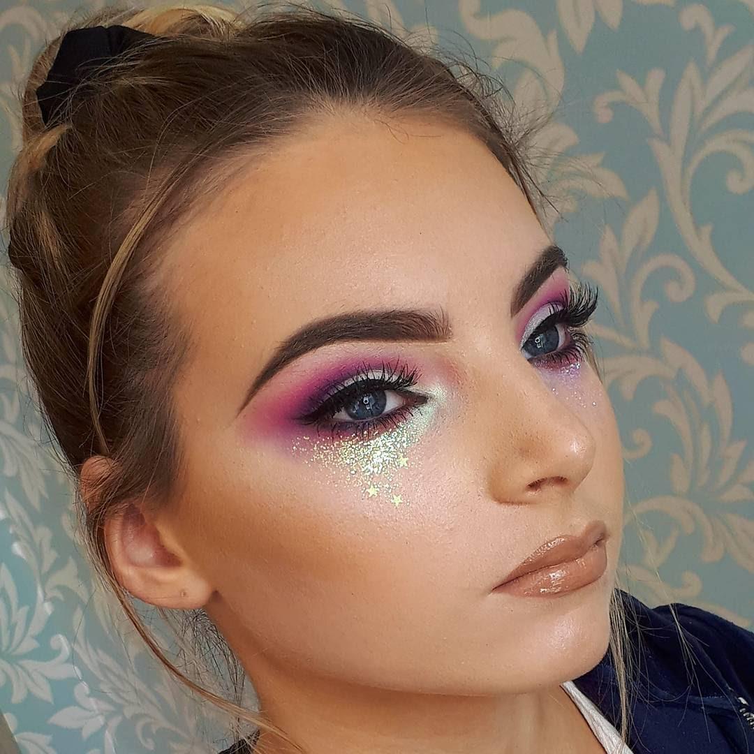 Glitter makeup designs