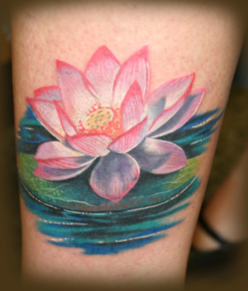Trendy Lotus Flower Tattoos