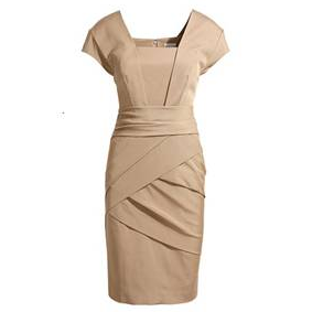 REISS Shola Camel Bandage Dress