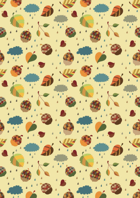 Autumn design scrapbook paper