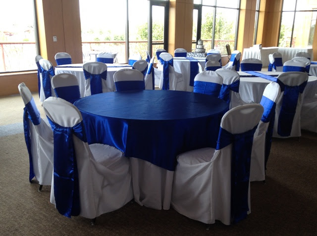 Devoted Weddings and Events | Royal Blue Horizon Sashes