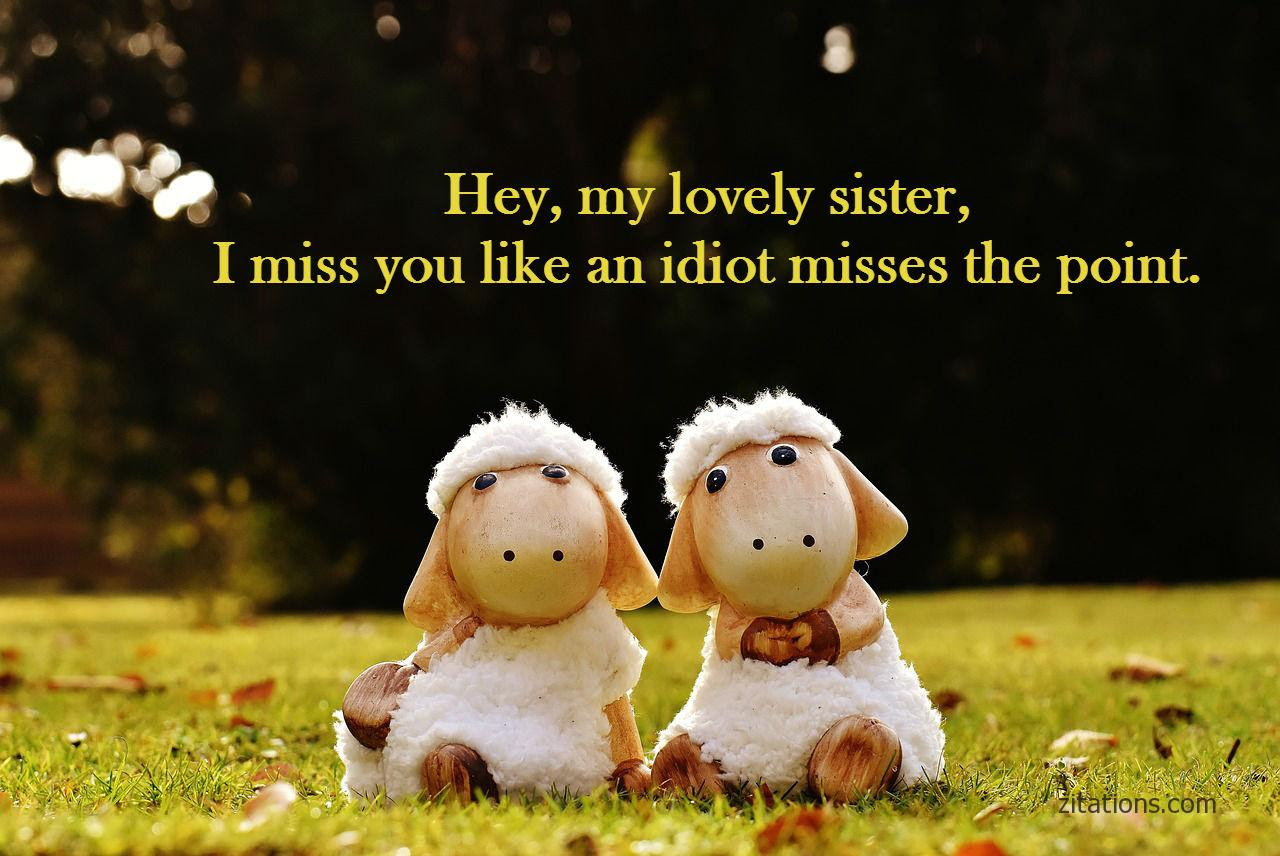 The Best I Miss You Sister Quotes   Soaknowledge