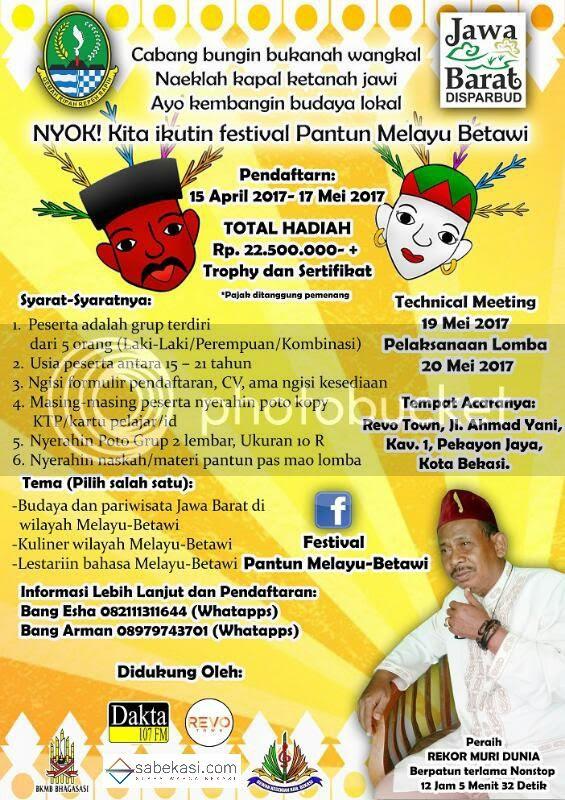 Disparbud Jabar Gelar Festival Pantun Melayu Betawi