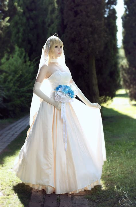 Fate/Stay Night   Saber (wedding dress) by KiaraBerry on