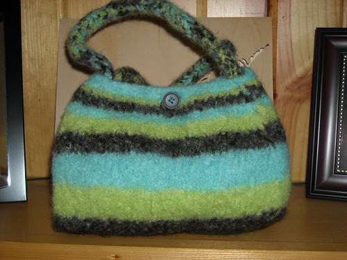 Finished Katie's Cool Colored Purse