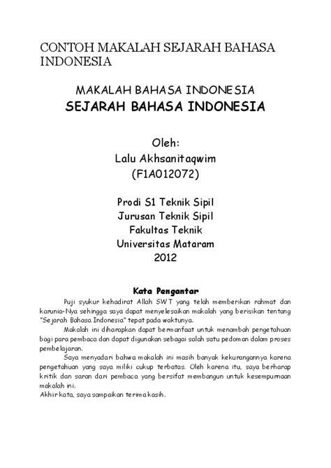 (DOC) CONTOH MAKALAH SEJARAH BAHASA INDONESIA | muh guntur