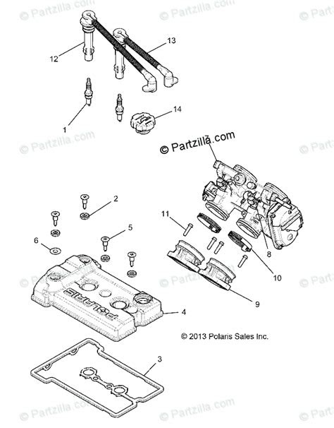 Polaris Side by Side 2018 OEM Parts Diagram for ENGINE