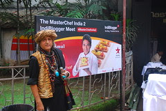 The Barefeet Blogger at Master Chef India 2 RK Studios by firoze shakir photographerno1