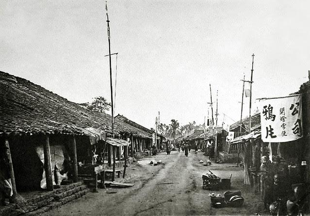 Saigon vers 1930 - Un village pendant la fête du Têt