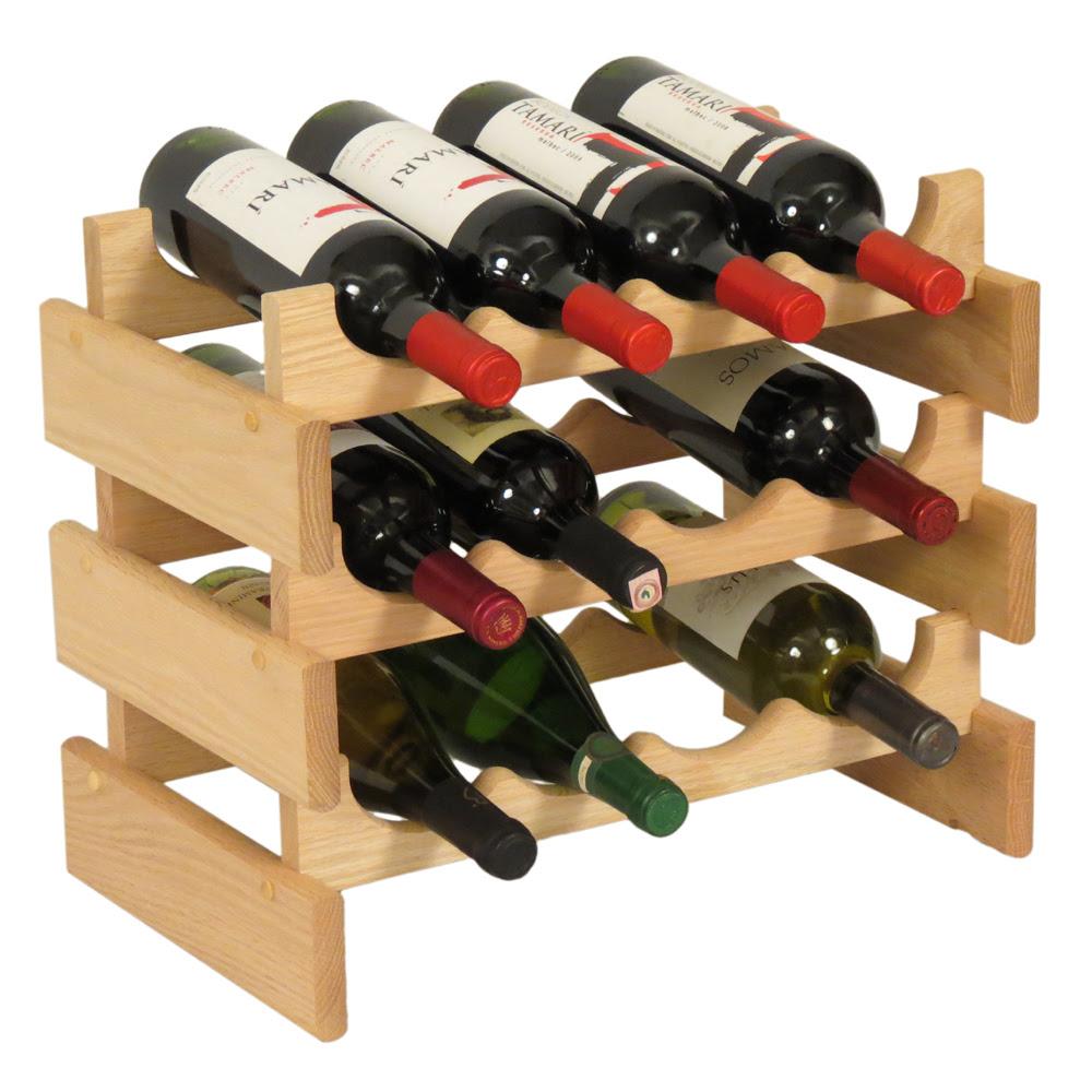 Wooden Mallet Wine Rack Configurations