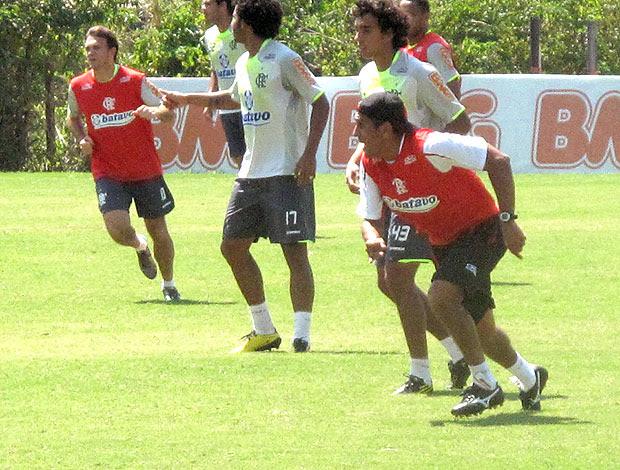 Silas no treino do Flamengo