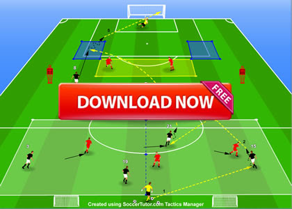Atletco Madrid Passing Y Shape Combination Dribble Finishing