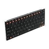 ユニーク Bluetoothキーボード rapoo E6300 ブラック 5.6mmウルトラスリム E6300