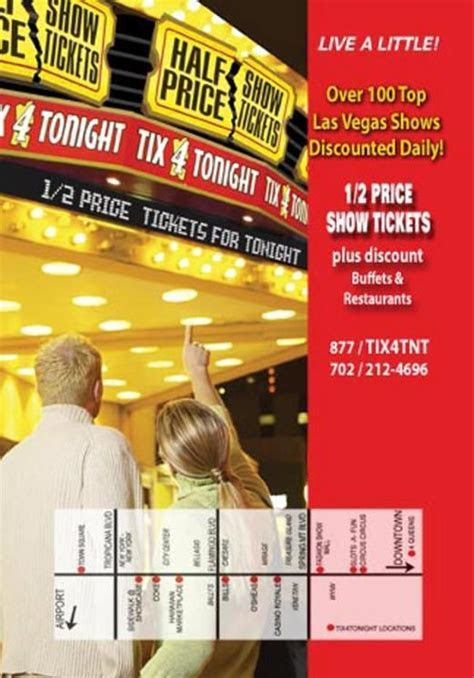 Tix4Tonight Coupon Half Price Las Vegas Show Tickets   Las