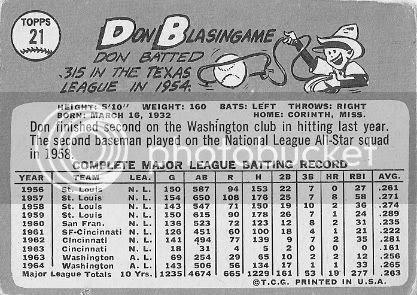 #21 Don Blasingame (back)