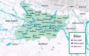 Map of Bihar