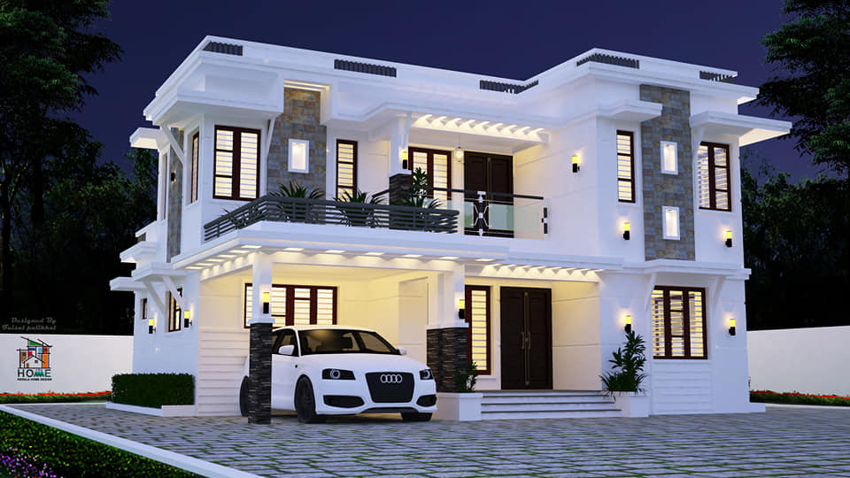 2155 Square Feet 4 Bedroom Contemporary Style Flat Roof ...