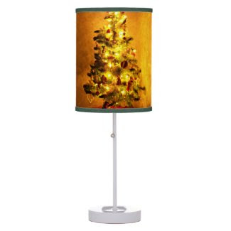Vintage Christmas Tree Table Lamp