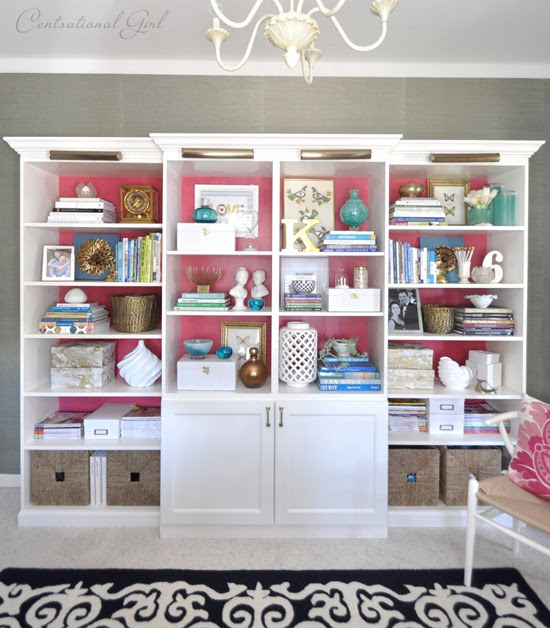 Centsational Girl » Blog Archive Besta, Billy, & Brass Bookcases ...