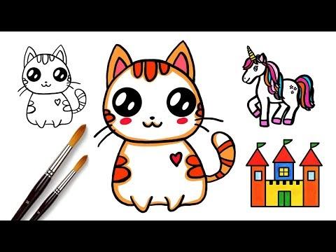 Как нарисовать Кавайного Котенка, Кота, Котёнка, Кошку l ...