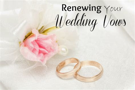 Renewing Your Wedding Vows
