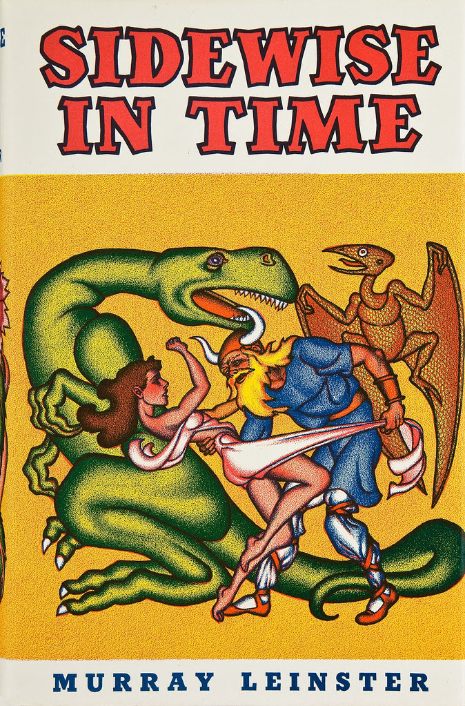 Hannes Bok - Sidewise in Time (Murray Leinster) Shasta Publishers, 1950