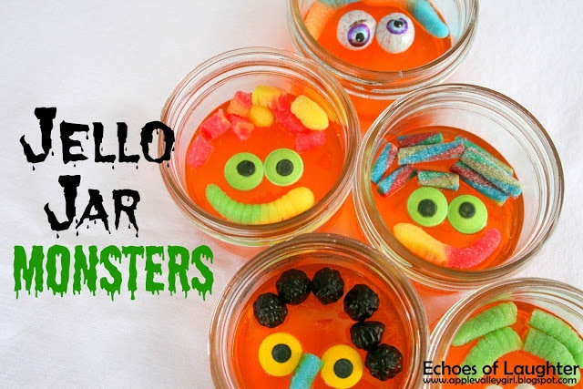 Jello Jar Monsters...Cute for Halloween!